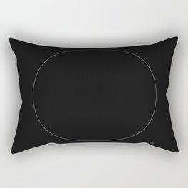 The White Circle Rectangular Pillow