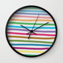 Colorful stripes pattern Wall Clock