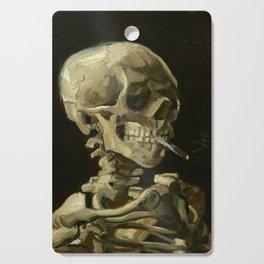 Vincent van Gogh - Skull of a Skeleton with Burning Cigarette Cutting Board