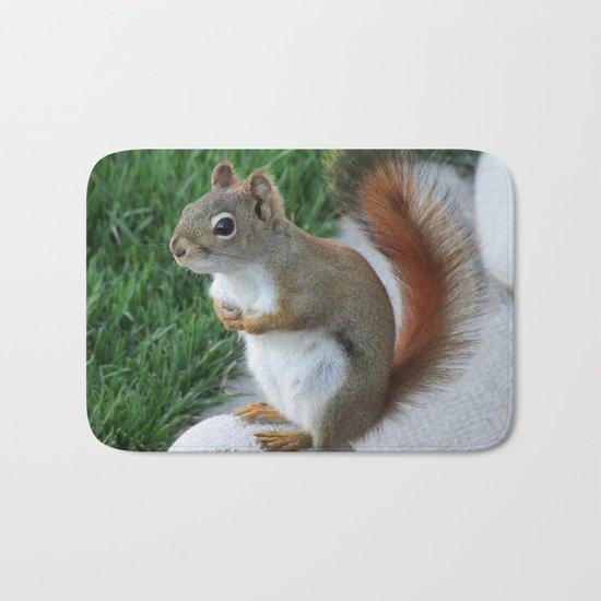 Red Squirrel Bath Mat