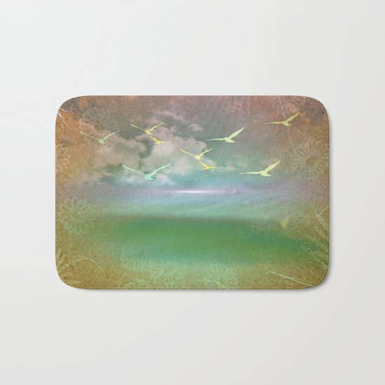 Day At The Beach Abstract Bath Mat