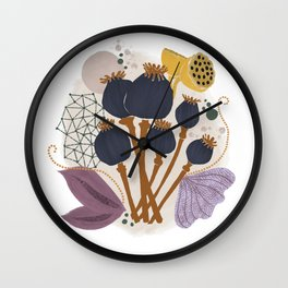 Fall Floral Bouquet Wall Clock