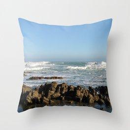 Rocky Beach Cape Point Seascape, South Africa Throw Pillow