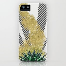 modern golddust and fine line design iPhone Case