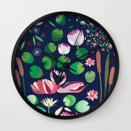 Pond Affair in color Wall Clock