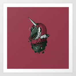 Uniparrot Art Print