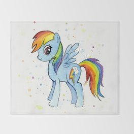 Rainbow Dash MLP Pony Throw Blanket