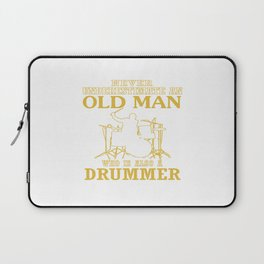 Old Man - A Drummer Laptop Sleeve
