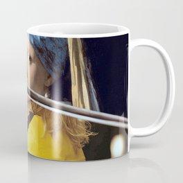 Beatrix Kiddo and Vermeer's Girl with a Pearl Earring Coffee Mug
