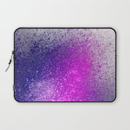 Hot Pink and Purple Paint Splatter Laptop Sleeve