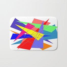 Colour triangles Bath Mat