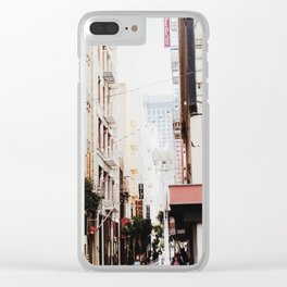 SF Side Streets Clear iPhone Case