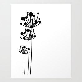 Minimal Floral Art Print