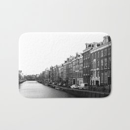 canal in Amsterdam Bath Mat