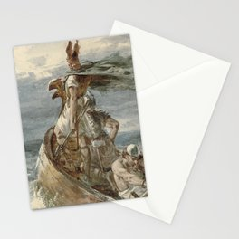 Vintage Raiding Vikings Painting (1873) Stationery Cards