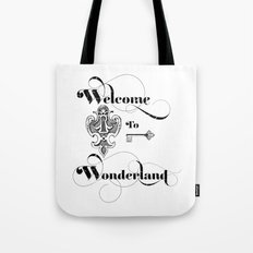 Alice In Wonderland Welcome To Wonderland Tote Bag