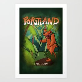 Adventure in Portland Art Print