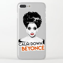 """Calm down Bey!"" Bianca Del Rio, RuPaul's Drag Race Queen Clear iPhone Case"