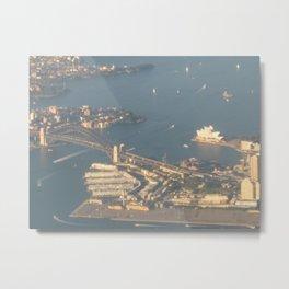Sydney Harbor in Action Metal Print