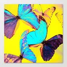 Shiny and colorful butterflies Canvas Print