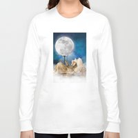 sandman Long Sleeve T-shirts featuring Good Night Moon by Diogo Verissimo