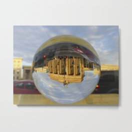 Brandenburg Gate, Berlin / Glass Ball Photography Metal Print