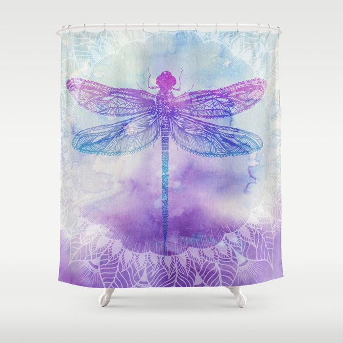 Mandala Dragonfly Shower Curtain