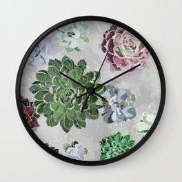 Simple succulents Wall Clock