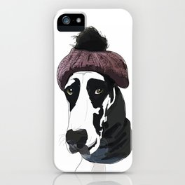 Hipster Great Dane iPhone Case