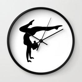 B&W Contortionist Wall Clock