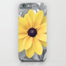 Yellow Grey Flower Photography, Yellow Gray Nature Floral Photography Slim Case iPhone 6s