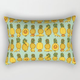 Pineapple parade Rectangular Pillow