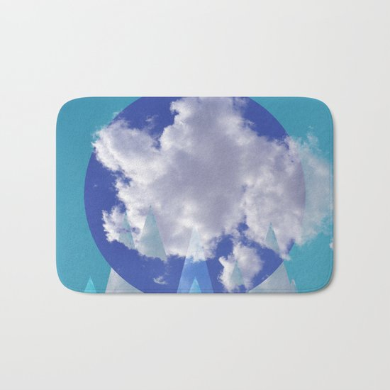 Clouds and Mountains II Bath Mat