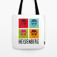 popart Tote Bags featuring Heisenberg Popart by Nxolab