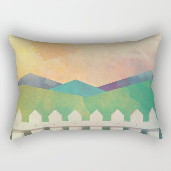Watercolor Farm Rectangular Pillow