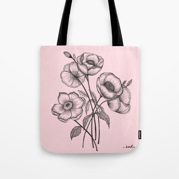 Palid Flowers  Tote Bag