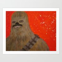 chewbacca Art Prints featuring chewbacca by bdevine