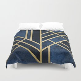 Art Deco Midnight Duvet Cover