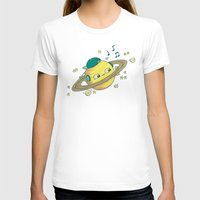 dj T-shirts featuring DJ Saturn by Lili Batista