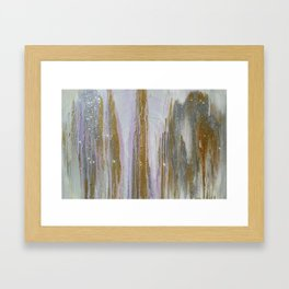 Gold and Silver Deluge Framed Art Print