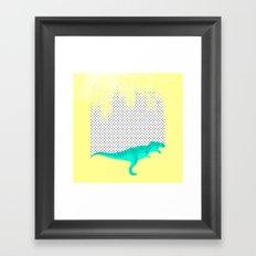 dino got the blues, or not! Framed Art Print