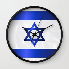 Israel Star Of David Flag Wall Clock