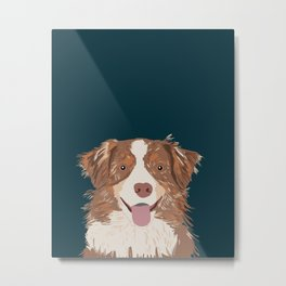 Hollis - Australian Shepherd gifts for dog owners pet lovers dog people gifts for dog person Metal Print