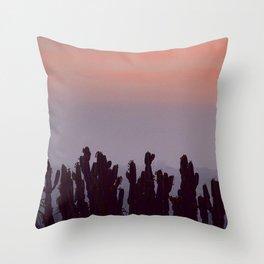 Twilight Cacti Throw Pillow