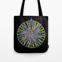 compass Tote Bags featuring Compass by Charlie of Foss