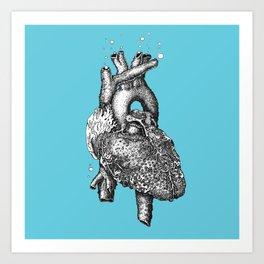 Reef heart Art Print