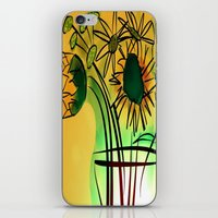leah flores iPhone & iPod Skins featuring Flores by transFIGure