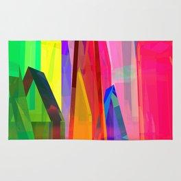 colorful village -2- Rug