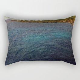 Negril Rain Fall Over Sea | 2009 Rectangular Pillow
