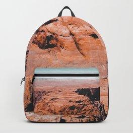 Closeup Horseshoe Bend and river in Arizona USA Backpack